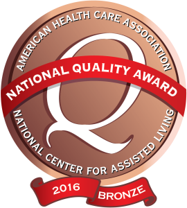 American Health Care Association - National Center for Assisted Living - National Quality Award Bronze 2016